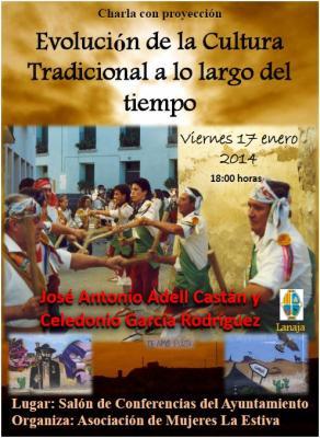 Charla en Lanaja sobre la Evolución de la Cultura Tradicional a lo largo del tiempo