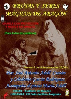 """Charla sobre """"Brujas y seres mágicos en Aragón"""" durante la XIII Feria del libro Aragonés de Monzón"""