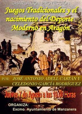 Los Juegos tradicionales y el nacimiento del deporte moderno en Aragón, en Manzanera