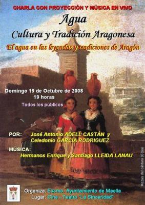 El agua, tradiciones y leyendas. Charla con proyección y música en Maella