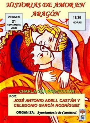 Charla sobre Historias de Amor en Aragón, en Caminreal