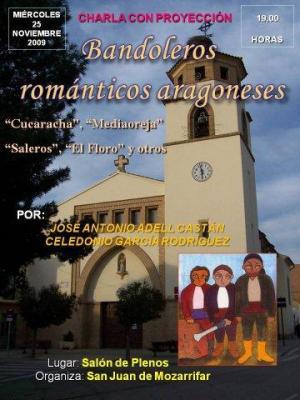 Charla sobre bandoleros románticos en San Juan de Mozarrifar