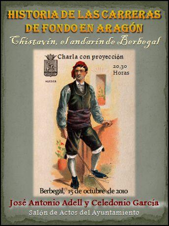 Charla sobre Chistavín, el andarín de Berbegal, y las carreras de fondo en Aragón