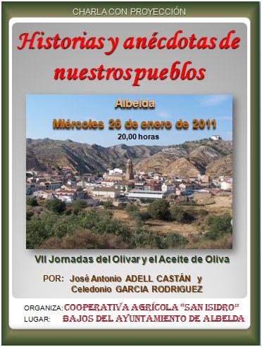 Historias y anécdotas de nuestros pueblos en las Jornadas del Olivar y el Aceite de Albelda