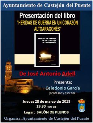 Adell y García presentan Heridas de Guerra en Castejón del Puente