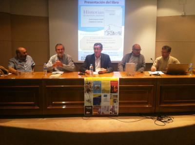 Adell y García presentaron en la ciudad de Teruel el libro 'Historias de nuestros pueblos' dedicado a la la provincia de Teruel