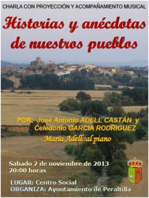 Charla con proyección y acompañamiento musical en Peraltilla