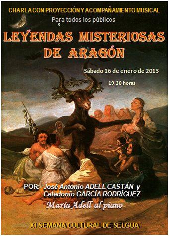 Leyendas misteriosas de Aragón en la IX Semana Cultural de Selgua
